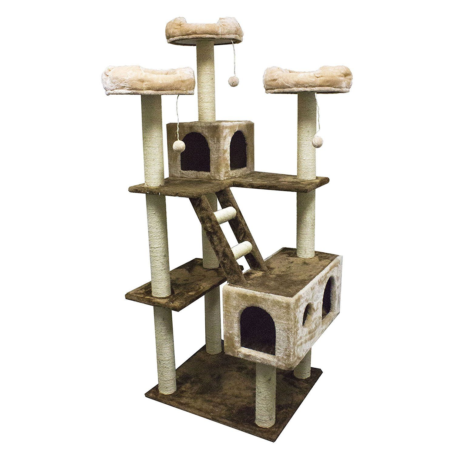 Kitty Mansions 73' Beverly Hills Cat Tree *** Click image