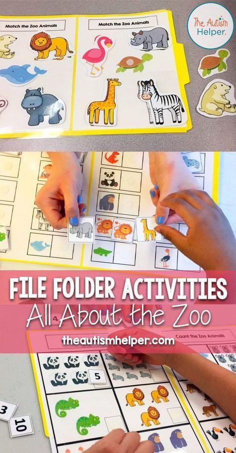 Zoo Themed File Folder Activities - The Autism Helper