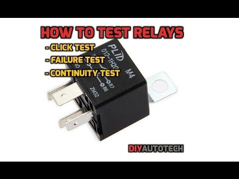 How To Test A 3 4 Or 5 Pin Relay With Or Without A Diagram Youtube Automotive Repair Repair Car Maintenance