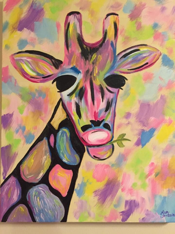 Simple abstract animal painting