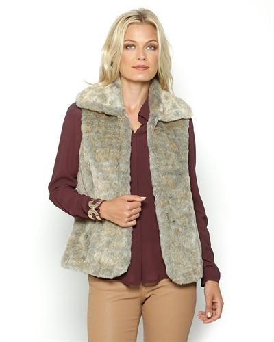 Nine West Faux Fur Vest  Fauxfur #Vest #DressWomen #Outerwear