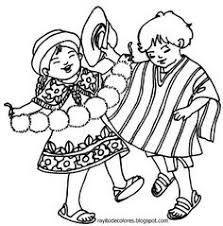 Resultado De Imagen Para Dibujos Para Pintar De Folklore Ecuatoriano