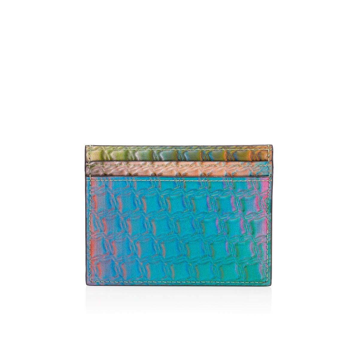 Christian Louboutin Kios Simple Card Holder Multi Hologram Canvas Handbags Christian Louboutin Canvas Handbags Christian Louboutin Men Christian Louboutin