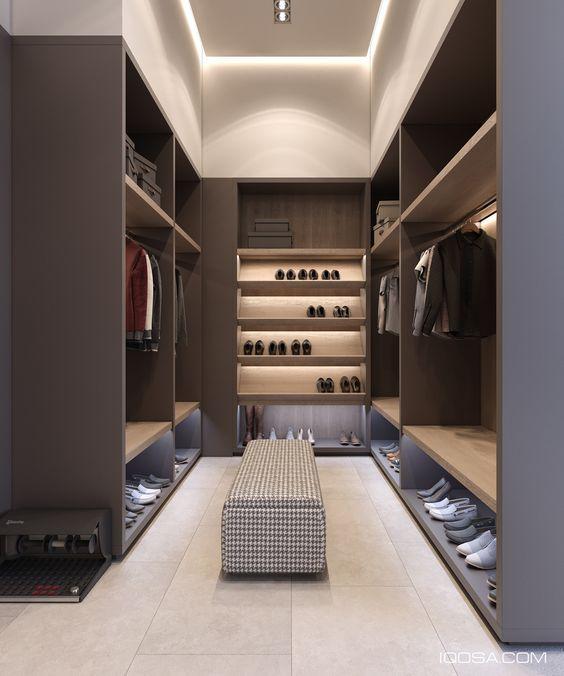 Progettare una cabina armadio stanza lunga e stretta new for Progettare una camera da letto