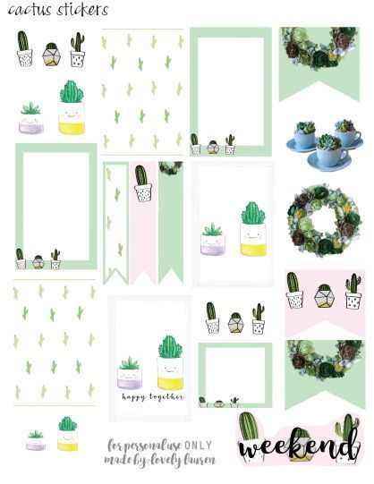 25+ Free PDF Planner Printable Stickers That'll Make Your Bullet Journal 10x More Functional is part of Printable planner, Free printable planner stickers, Free planner stickers, Free planner, Cactus stickers, Printable stickers - These planner stickers will add a different look and feel to your bullet journal  They're remarkedly functional and will save you so much time journaling!