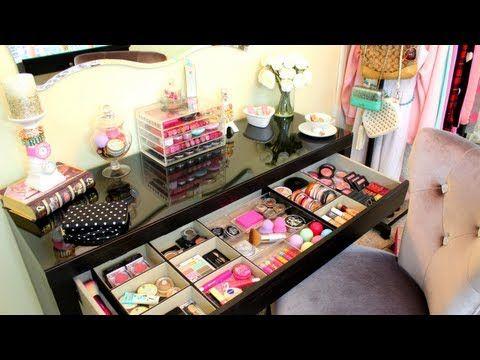 This is an updated and most recent makeup storage video by for Beauty table organiser