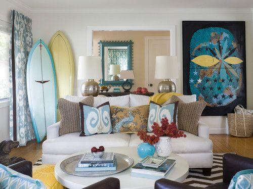 Northern California beach house style   ivory couch with pair of   Room   Northern California beach house style  . Beach House Decorating Ideas Living Room. Home Design Ideas