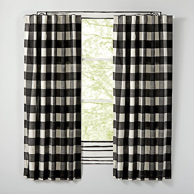 Grey Buffalo Check Blackout Curtain Crate And Barrel Buffalo Check Curtains Blackout Curtains Black Blackout Curtains