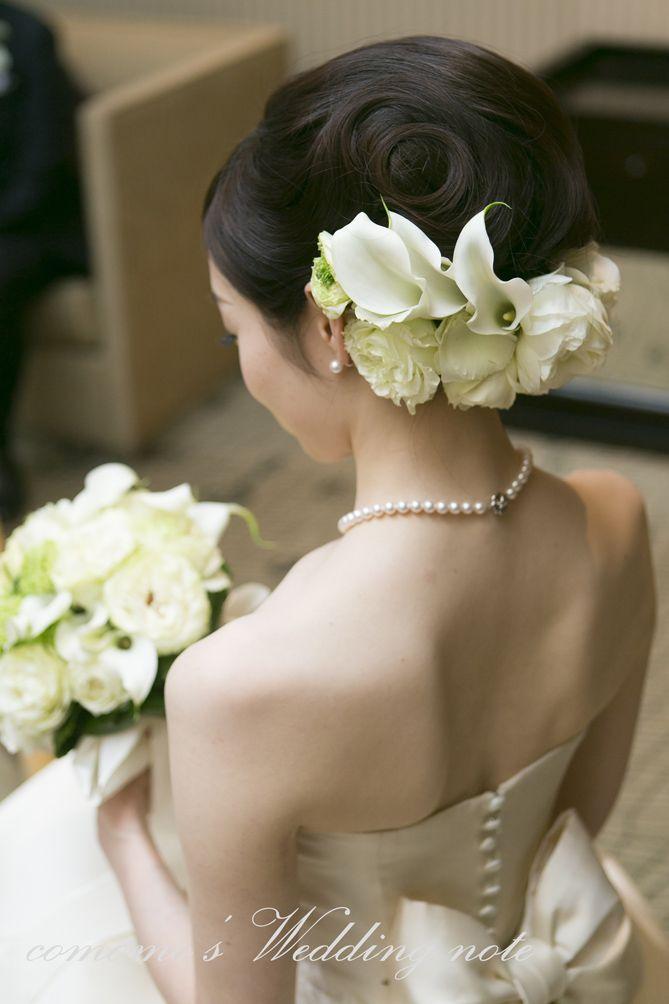 結婚式でのヘッドフラワー ウェディングドレス Comomo S Wedding