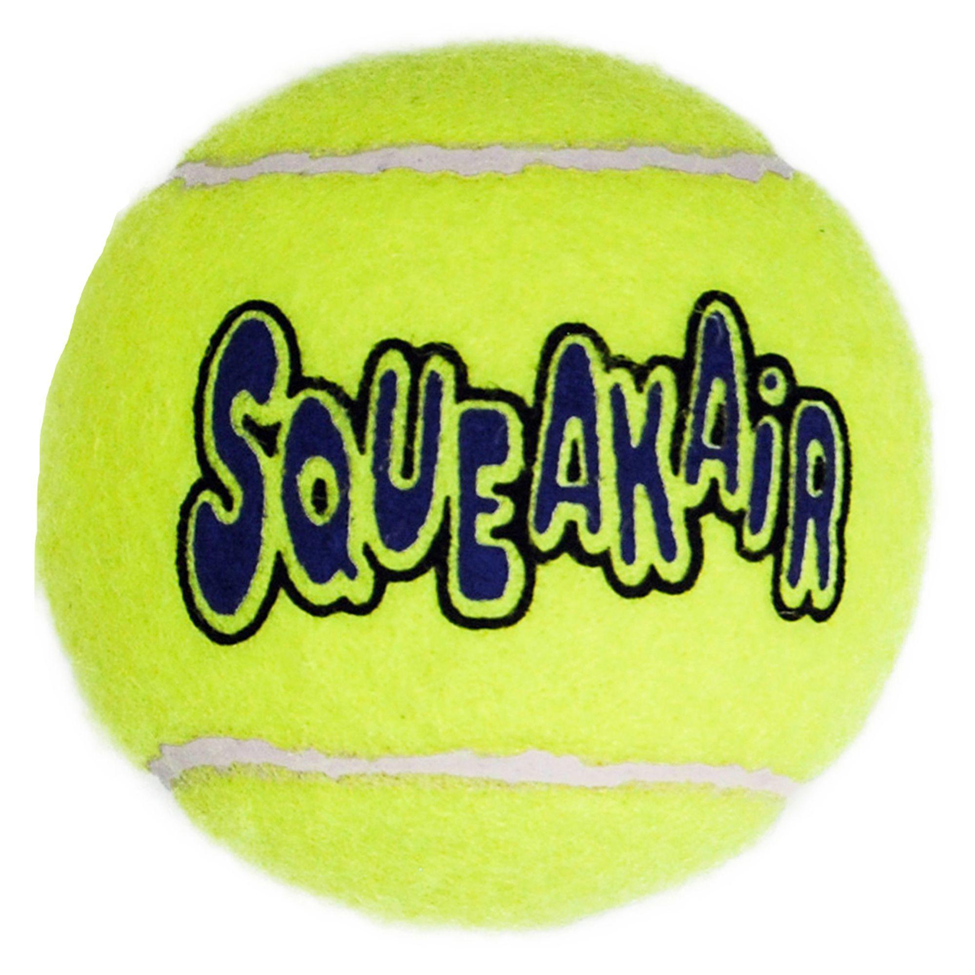 Kong Airdog Tennis Ball Squeaker Dog Toy Size Large Yellow