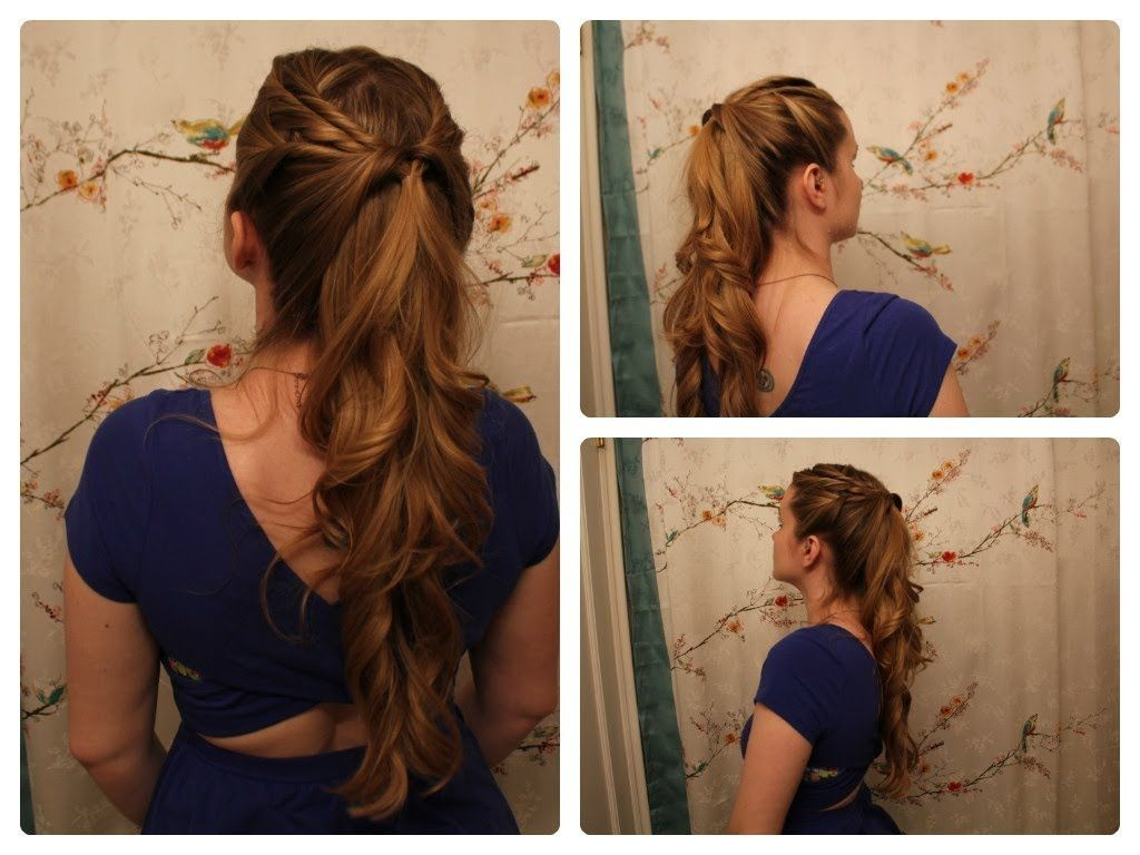 Pin By Hannah Gustafson On Hair Hair Styles Half Ponytail Hair Tutorial
