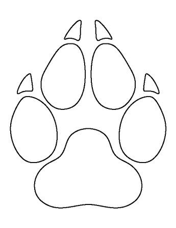 Wolf Paw Print Pattern Use The Printable Outline For Crafts