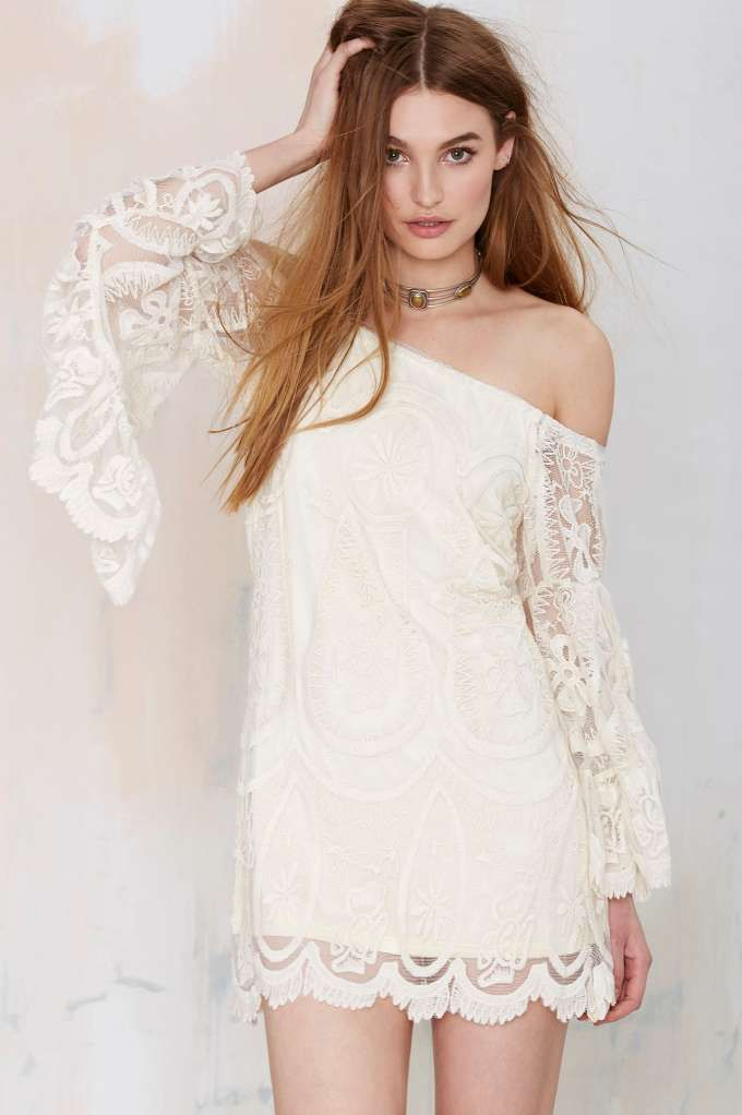 Beautiful ivory embroidered dress.