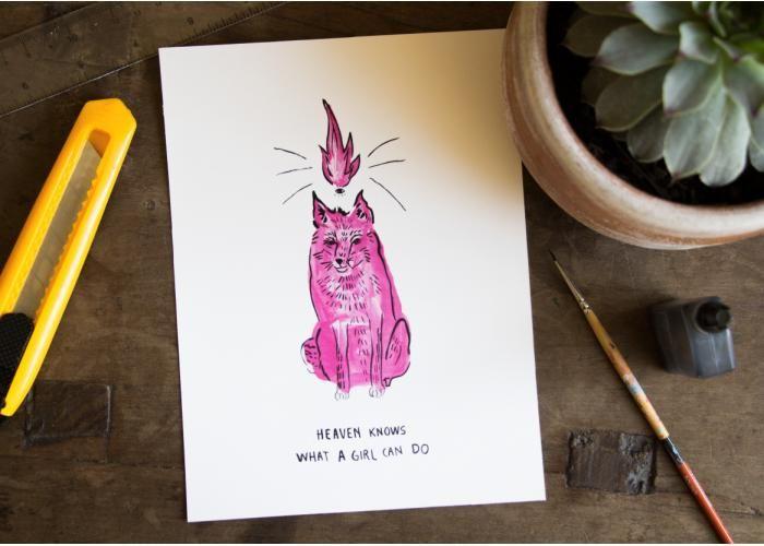 Daniela Jaik Ilustración: WHAT A GIRL CAN DO - ¡Disponible en Kichink!