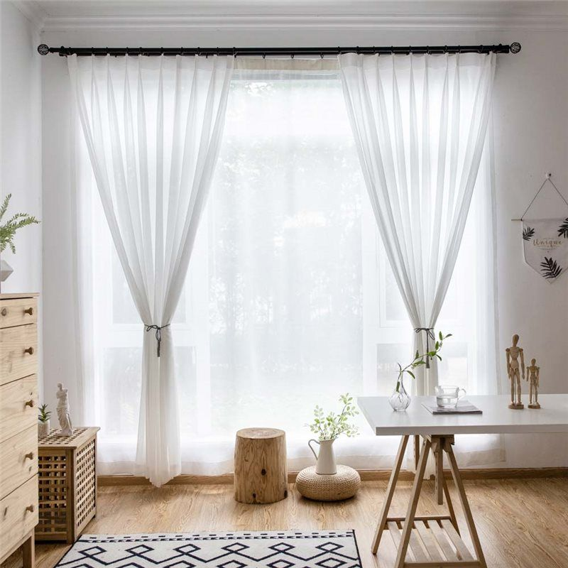 White Chiffon Sheer Curtain Modern Breathable Sheer Curtain Living Room Bedroom Nur Sheers Curtains Living Room Curtains Living Room Living Room Decor Curtains #sheer #curtain #ideas #for #living #room