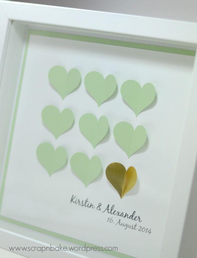 Herzen zur Hochzeit | Ribba Rahmen | Pinterest | Hochzeitsgeschenke ...