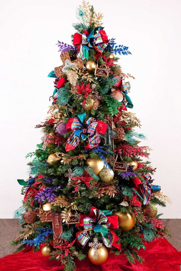Christmas Tree Lights Attractive Design Ideas Of Christmas Tree With Red Blue Green An Christmas Tree Themes Different Christmas Trees Creative Christmas Trees