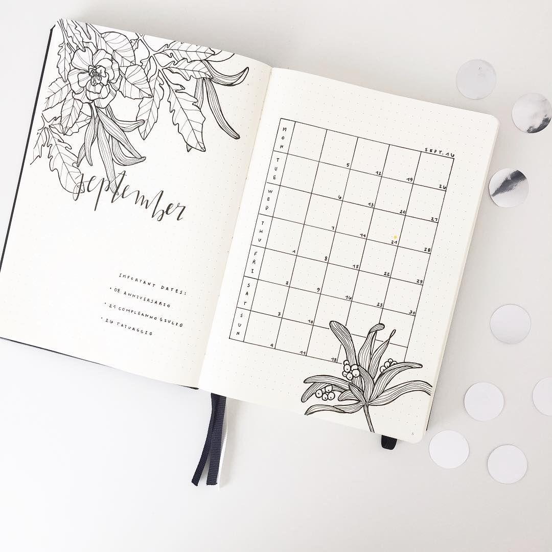 How Lovely Bullet Journal Floral Line Art Line Drawing