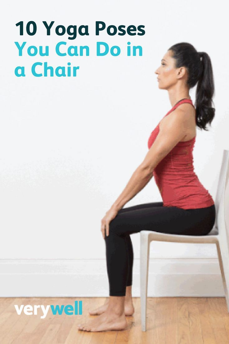10 Yoga Poses You Can Do In A Chair Chair Pose Yoga Yoga Benefits Easy Yoga Workouts