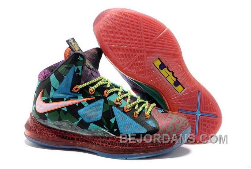 Free Shipping 6070 OFF 854215618 Nike LeBron 10 2013 MVP Black Blue Red Running Shoes