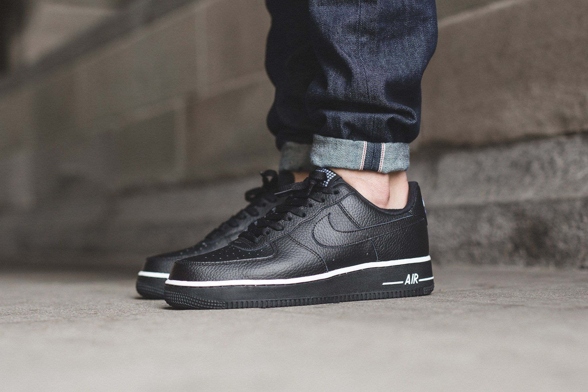 reputable site fd71c 39ded NIKE AIR FORCE 1 LOW STAR-BLACK-BLACK-2