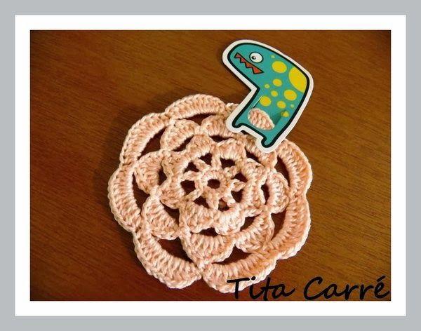 Tita Carré  Agulha e Tricot : Flor em crochet  e saiba quais são as flores que c...