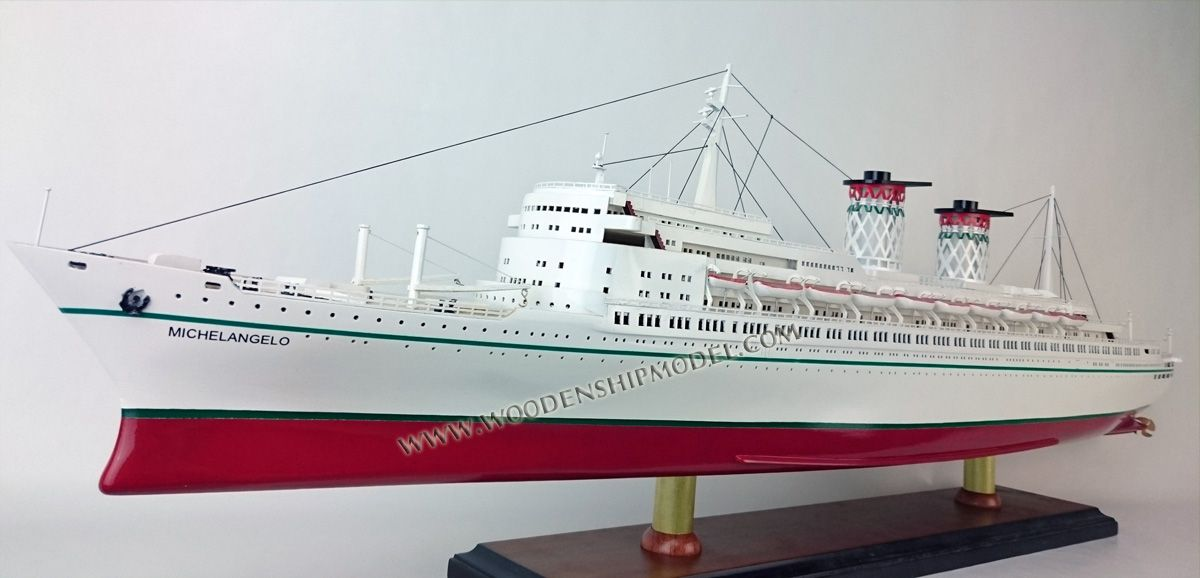 SS Michelangelo Model Ship Italian Liners Pinterest - Ms michelangelo cruise ship