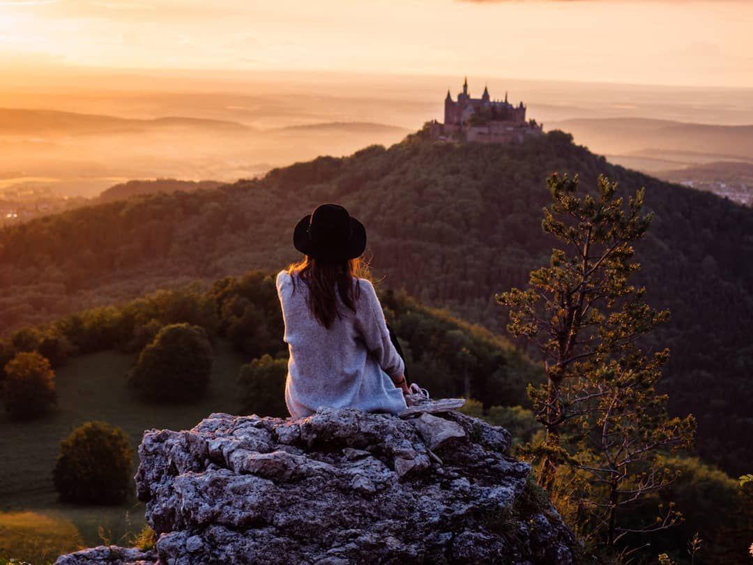 Burg Hohenzollern Baden Wurttemberg Hohenzollern Castle Beautiful Sunset Castle
