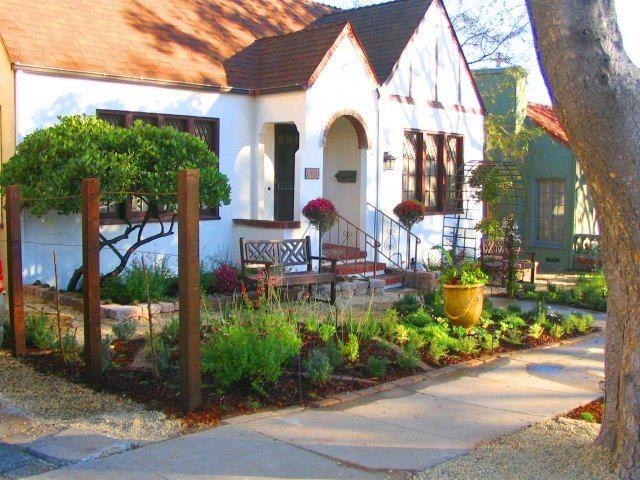 Beautiful vorgarten gestaltung ideen sitzbank pergola niedrige pflanzen baum