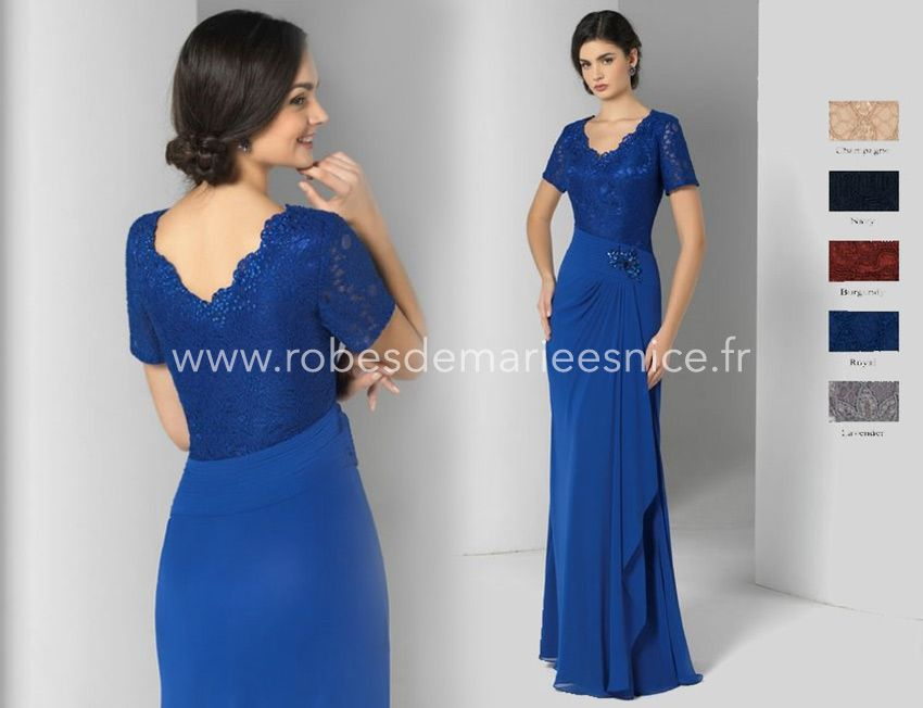 Robe cocktail rose et gris