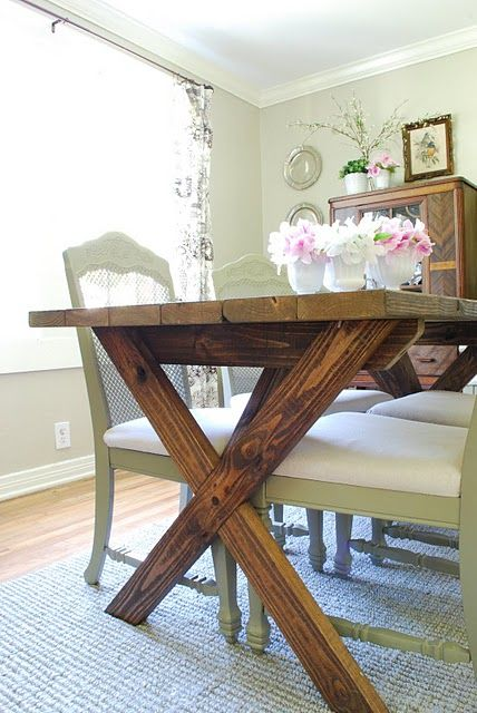 Picnic Style Table In The Formal Dining Room Homemade Kitchen