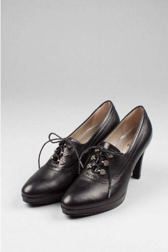 Dirndl + Bua Damen Schuhe Schwarz 5459 | Dirndl schuhe