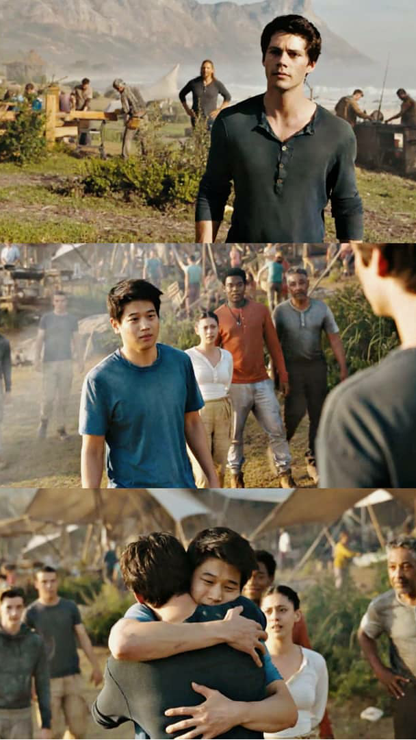 This was so important.. Minho already lost Newt, I can't imagine what he would have done if he lost Thomas too.
