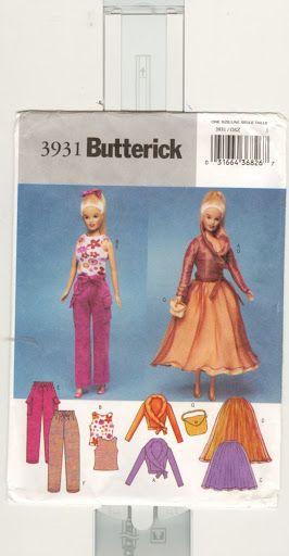Free Copy of Pattern - Butterick 3931 | Barbie | Pinterest | Nähe ...