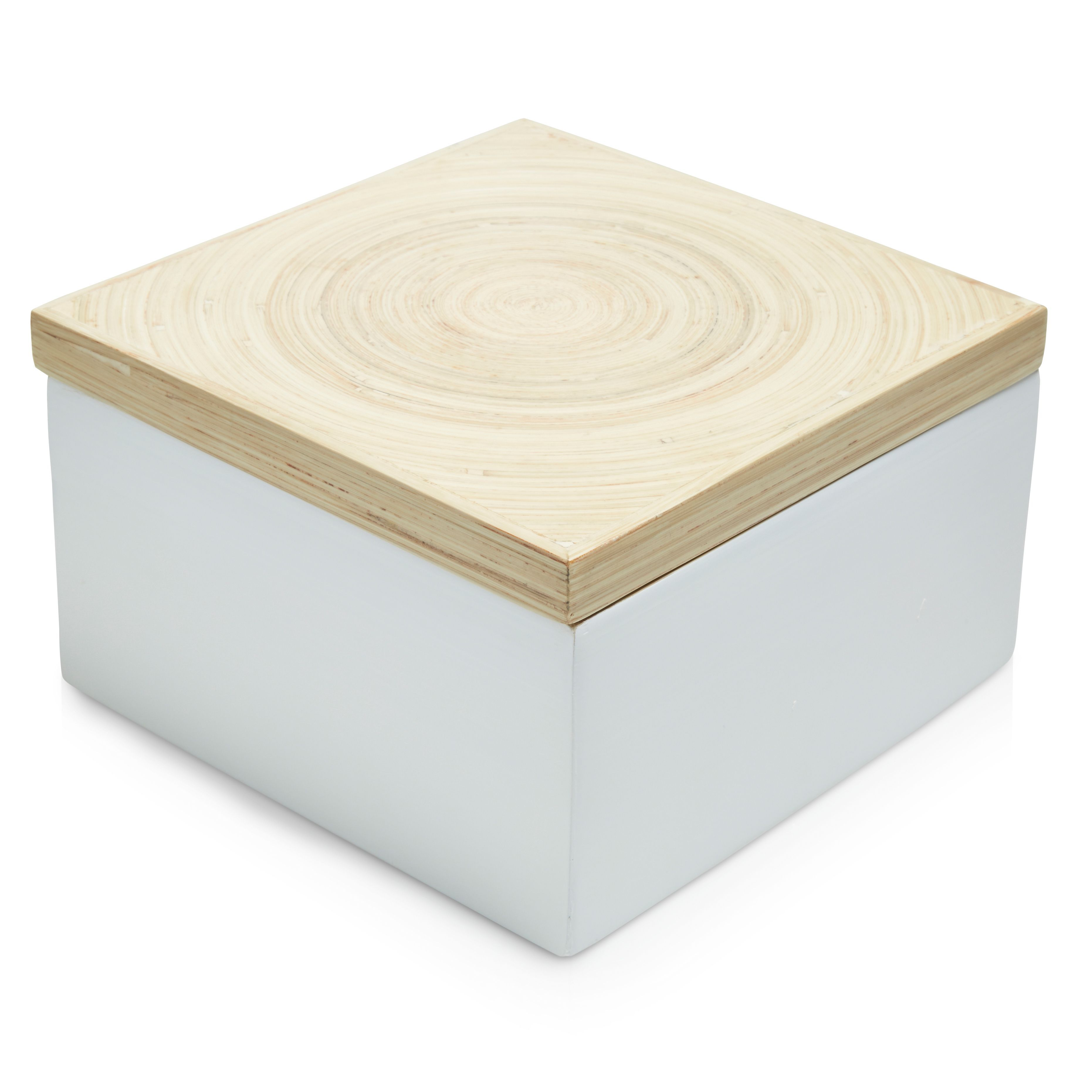 Colours White Bamboo Storage Box | Departments | DIY at Bu0026Q  sc 1 st  Pinterest & Colours White Bamboo Storage Box | Pinterest | Storage boxes ...