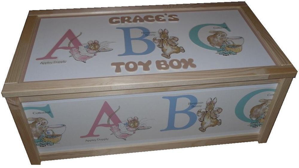 Personalised Toy Box Beatrix Potter Baby Nursery Storage Box