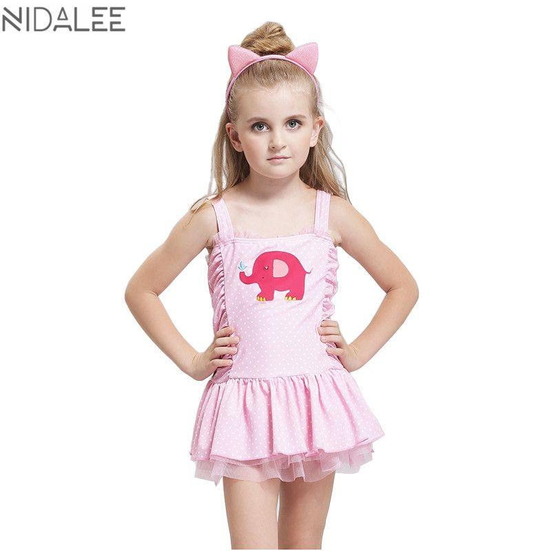 Nidalee Girls One Piece Skirt Swimwear Summer Lovely Children Lace Bowknot Print Swimsuit Bathing Sui Girls Bathing Suits Girls Beach Dress Baby Girl Swimsuit