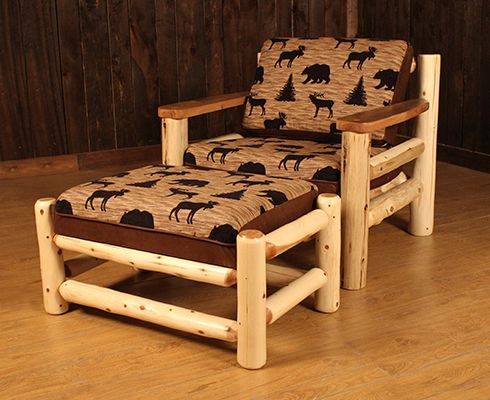 Logheads Rustic Log Sofa Chair And A Half Game Table