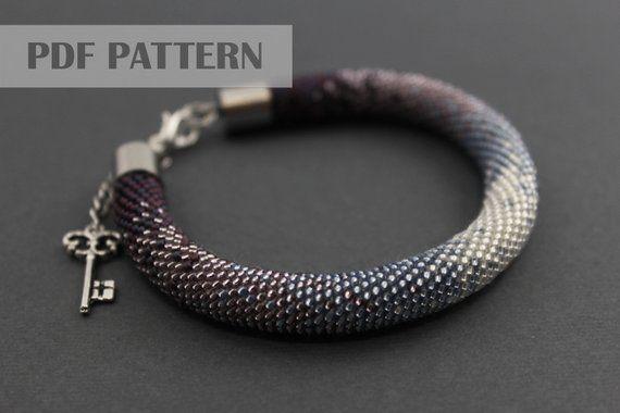 Bead Crochet Bracelet Pattern Rope Bead Crochet Bead Crochet