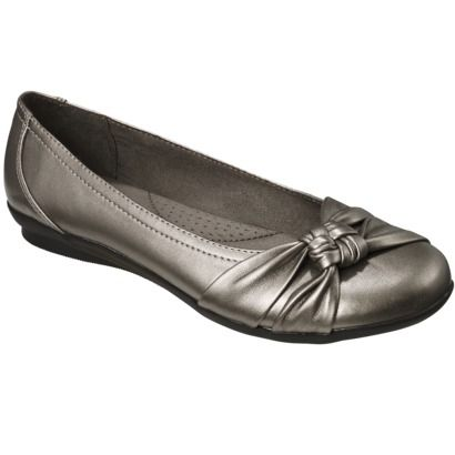 Women S Merona Maita Ballet Flat Orted Colors Pewter Or Black Sz