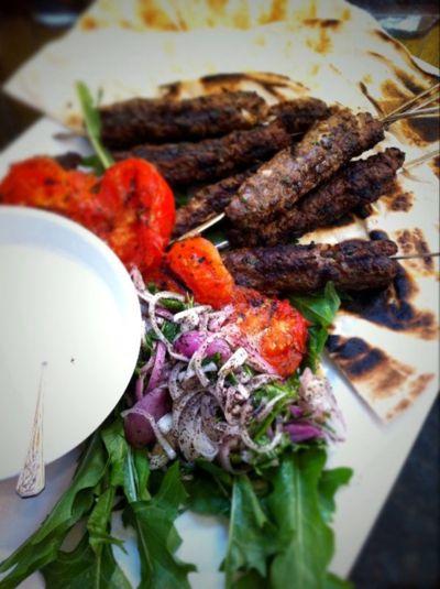 Beef Kofte with Sumac Shallots