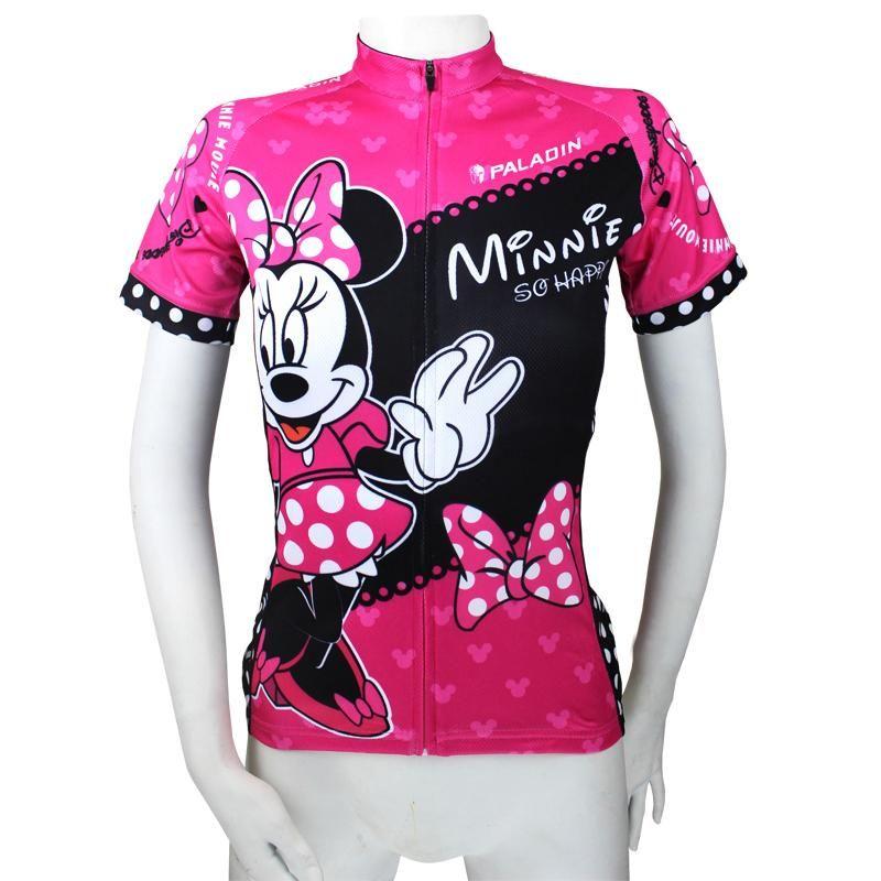 Ilpaladino Mickey Mouse s Girlfriend Minnie Woman s Short Long-sleeve  Cycling Jersey Suit Sport Wear Bike Shirt Cartoon World NO.096 3ca2ccf89