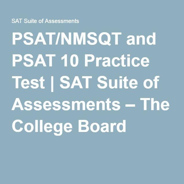 psat nmsqt and psat 10 practice test sat suite of assessments