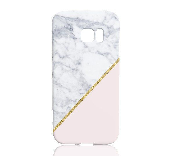finest selection fe265 ec034 Pink Marble Gold Glitter Phone Case - Samsung Galaxy S7 Edge ...