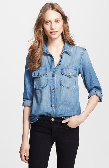 4a629d4e46 Current Elliott  The Perfect Shirt  Denim Shirt available at  Nordstrom