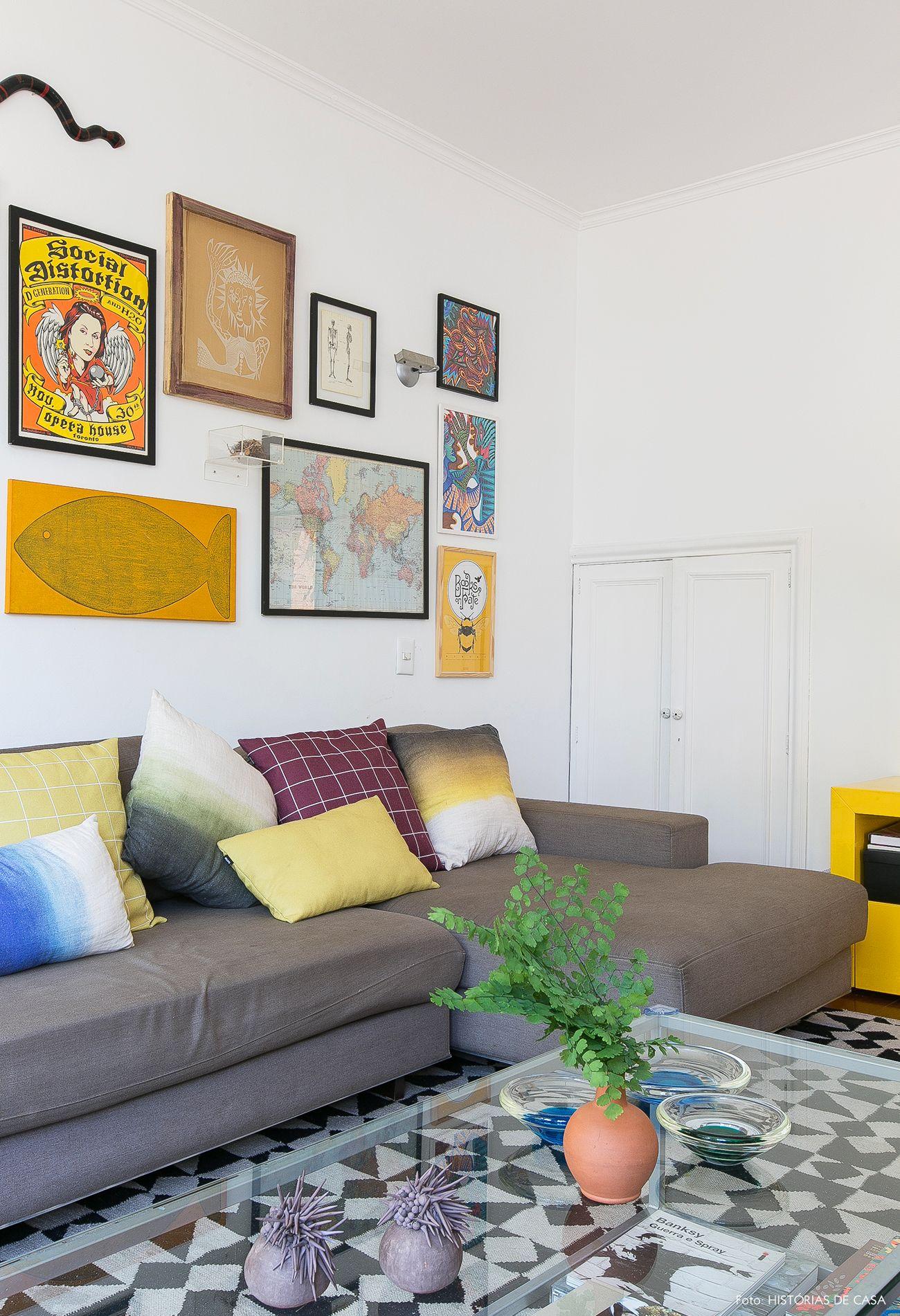 A Vida Com Mais Cor Room Decor Flats And Living Rooms -> Parede Galeria Sala