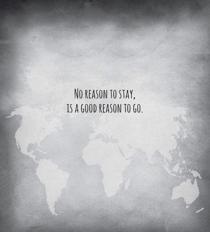 No reason to stay, is a good to go. |