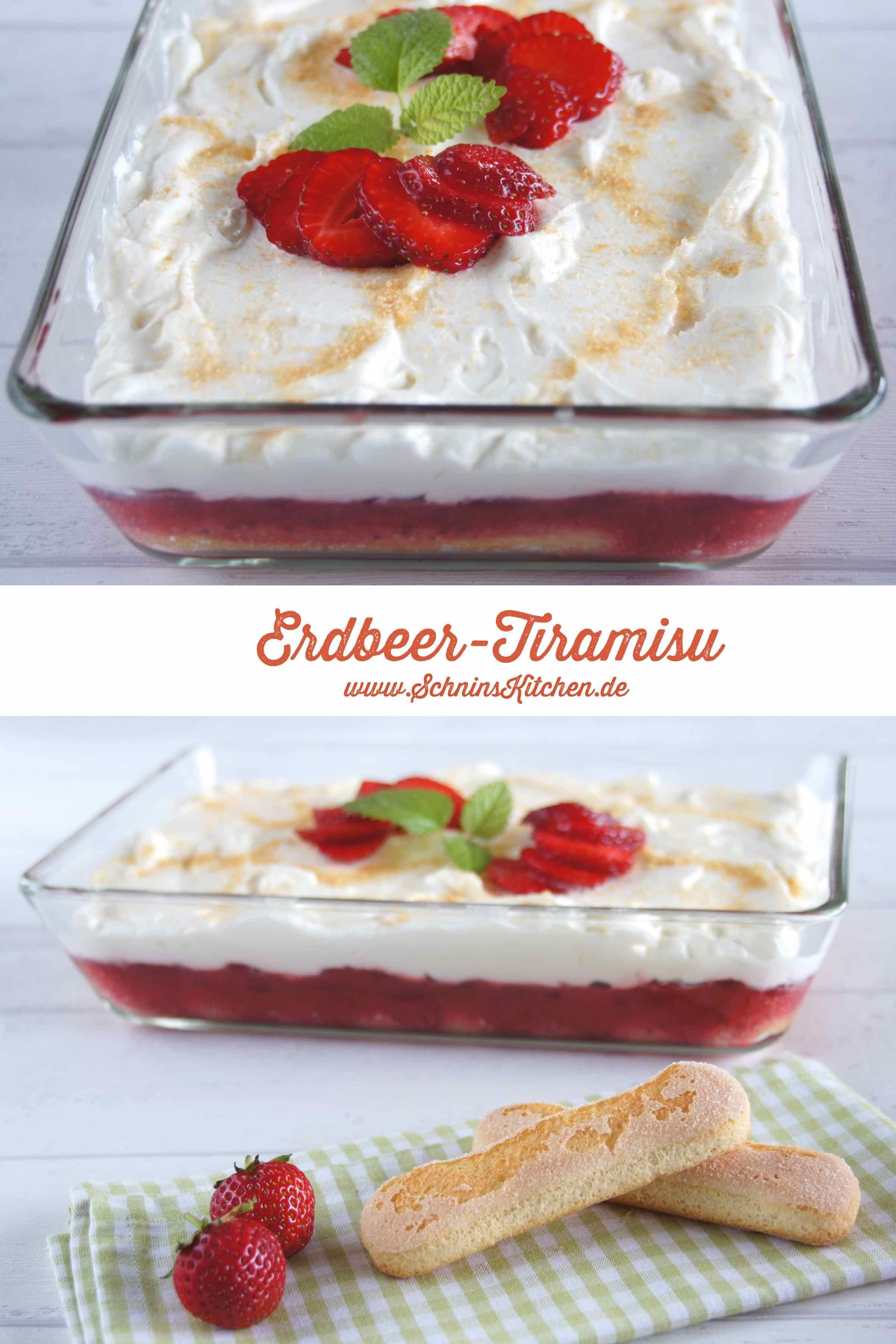 Leichtes Erdbeer-Tiramisu mit Joghurt #dessertrecipes