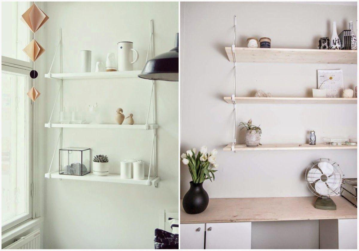 string shelving alternative ekby g ll by ikea etagere pinterest shelves ikea et home. Black Bedroom Furniture Sets. Home Design Ideas