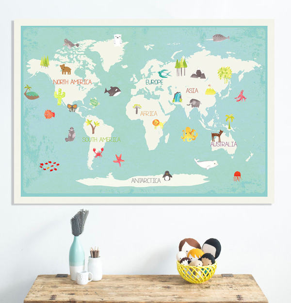 Interactive world map for kids from children inspire design hello wonderful interactive world map for kids from children inspire design gumiabroncs Images